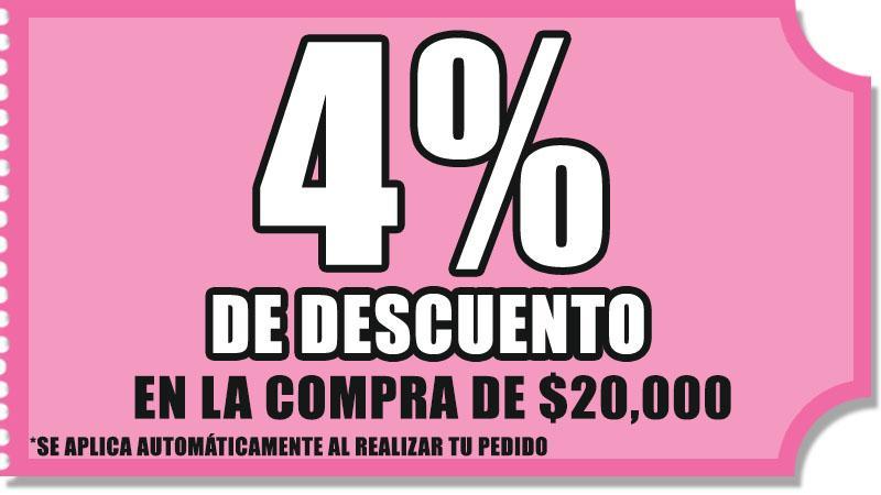 4 % DE DESCUENTO