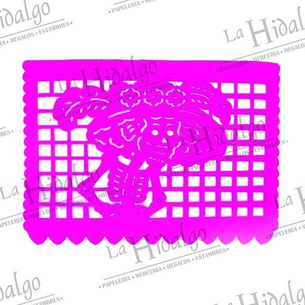Papel Picado Medio Pliego Con 100 Un Solo Color