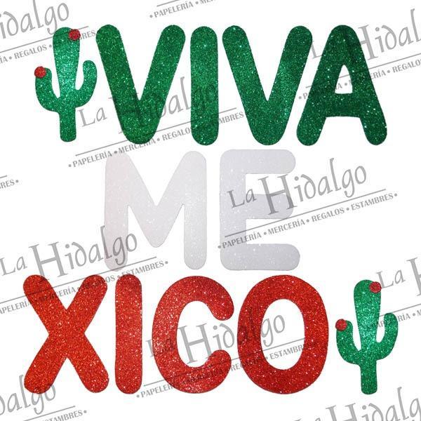 Figuras Fomi Letrero Viva Mexico